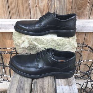 Ecco Boston Tie Black Lace Up Dress Shoe 9 9.5 43